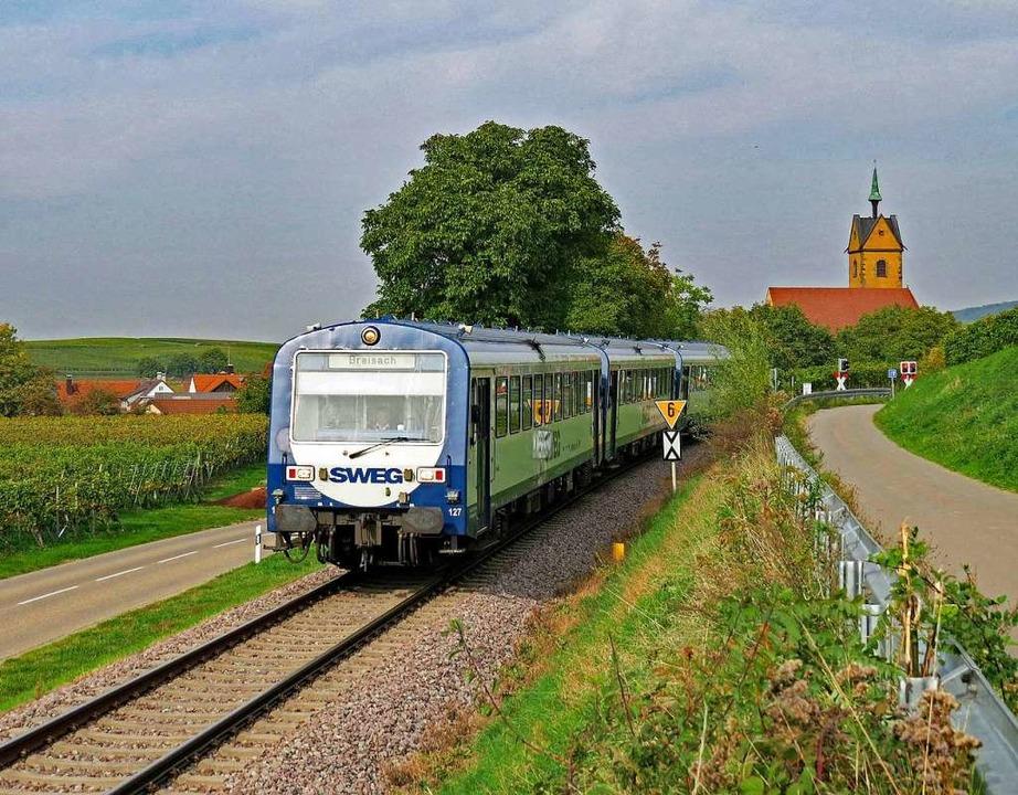 Für den Bahnverkehr  zwischen Endingen und Breisach ist die SWEG zuständig.    Foto: Heinz Göttlich
