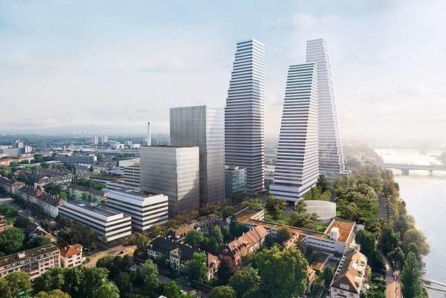 Roche will in Basel einen 221-Meter-Büroturm bauen