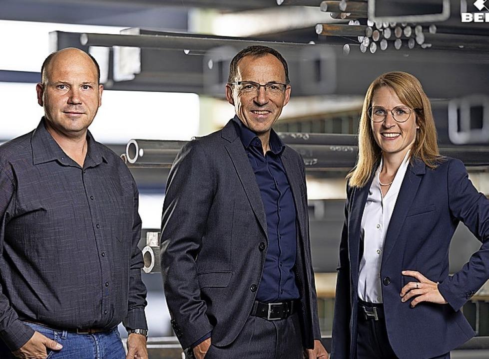 Dirk Spix, Benedikt Belle und Aline He... bilden das Führungstrio der Belle AG.    Foto: Belle AG/Jigal Fichtner