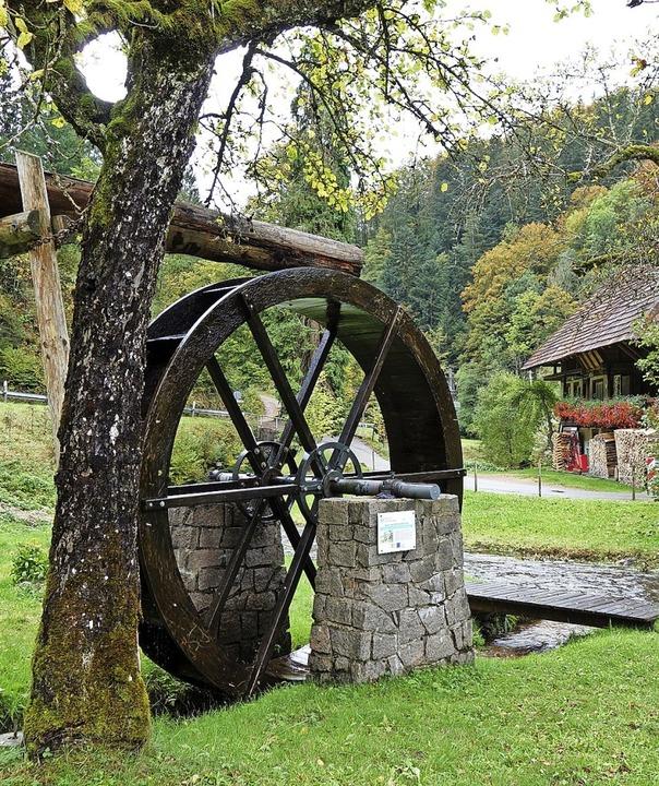 Das Bürchauer Wasserrad bei der ehemal...sind seit 2011 im Besitz der Gemeinde.  | Foto: Gudrun Gehr