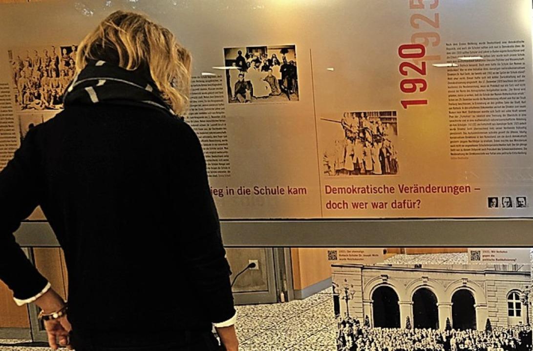 <BZ-FotoAnlauf>Auseinandersetzung </BZ-FotoAnlauf>mit der Schulgeschichte     Foto: Petritz
