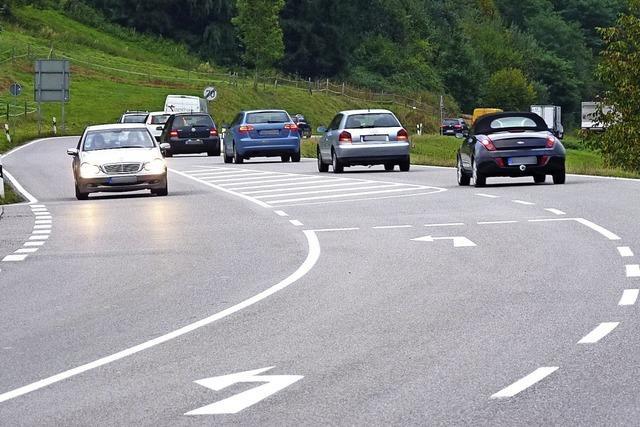 Radfahrer sollen bei Zell auf die Bundesstraße 317 ausweichen
