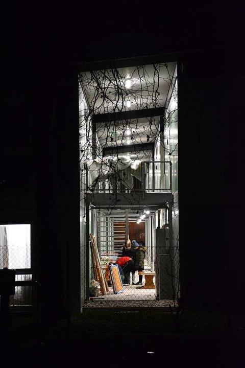 Blick ins Treppenhaus der Haltinger Flüchtlingsunterkunft    Foto: Hannes Lauber