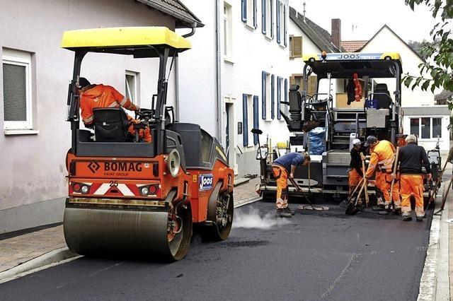 Straßenbau abgeschlossen