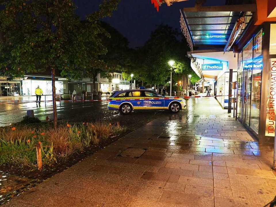 Der Tatort war abgesperrt.  | Foto: Herbert Frey