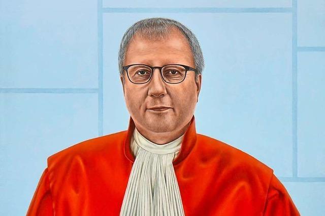 Im Club der roten Richter: Im Bundesverfassungsgericht hängt nun ein Porträt von Ex-Präsident Voßkuhle