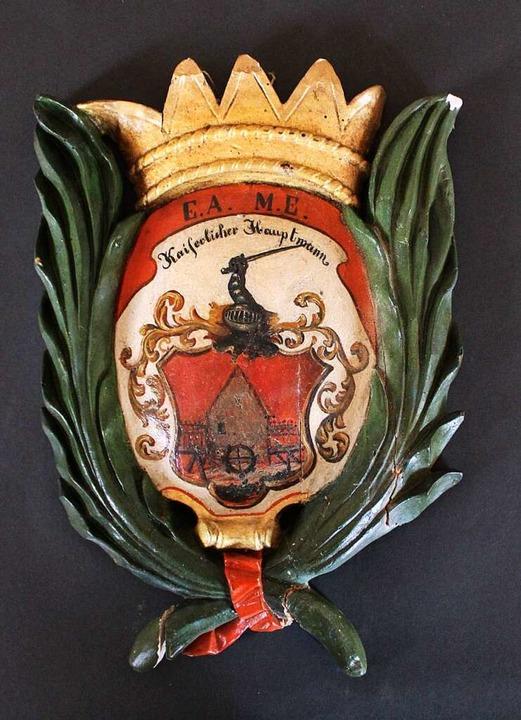 Das Wappen des Hauptmanns    Foto: Rolf Reißmann
