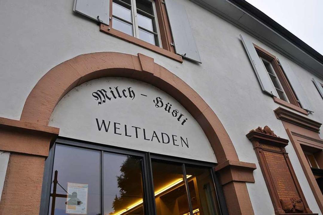 Der Weltladen Milchhüsli im alten Stet... gehandelte Produkte angeboten werden.  | Foto: Daniel Gramespacher