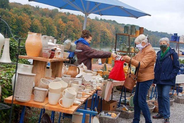 Töpfer- und Künstlermarkt in Schloss Beuggen zieht auch im Herbst