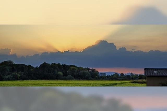 Sonnenuntergang als Belohnung für Sporteinheit