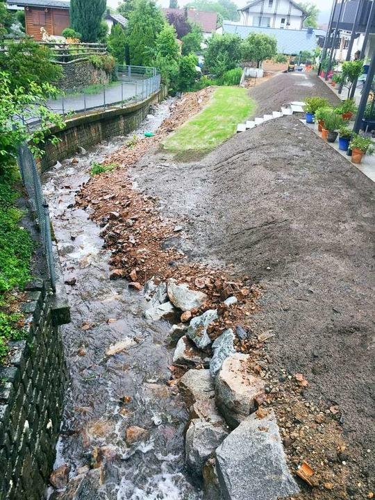 So wie hier am Rainbächle unterhalb Do...n ein renaturierter Bachlauf aussehen.  | Foto: Gemeinde Sölden