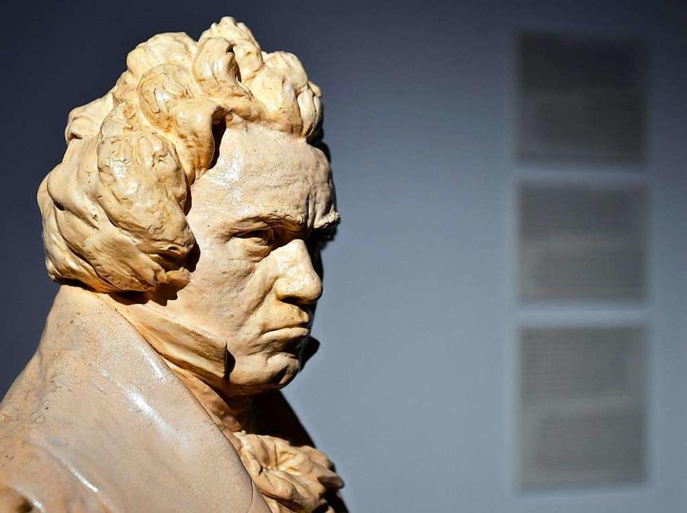 Eine Büste des deutschen Komponisten L... Beethoven im Wiener Beethoven Museum.    Foto: Herbert Neubauer (dpa)
