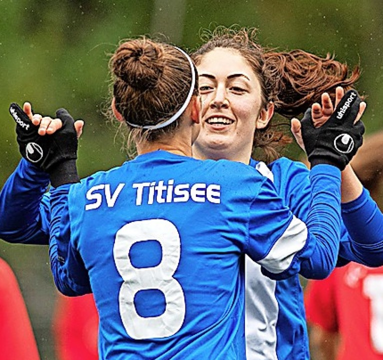 Mit der Nummer acht auf dem Rücken erz...tisee, Sophia Herrmann traf doppelt.    | Foto: Wolfgang Scheu