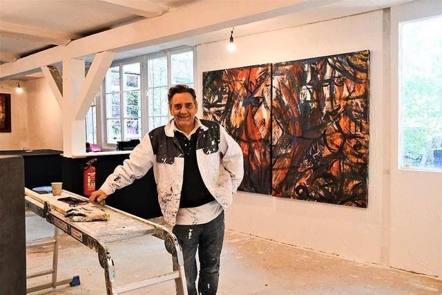 Künstler Steffen Maria Ost eröffnet eine Galerie in Lörrach