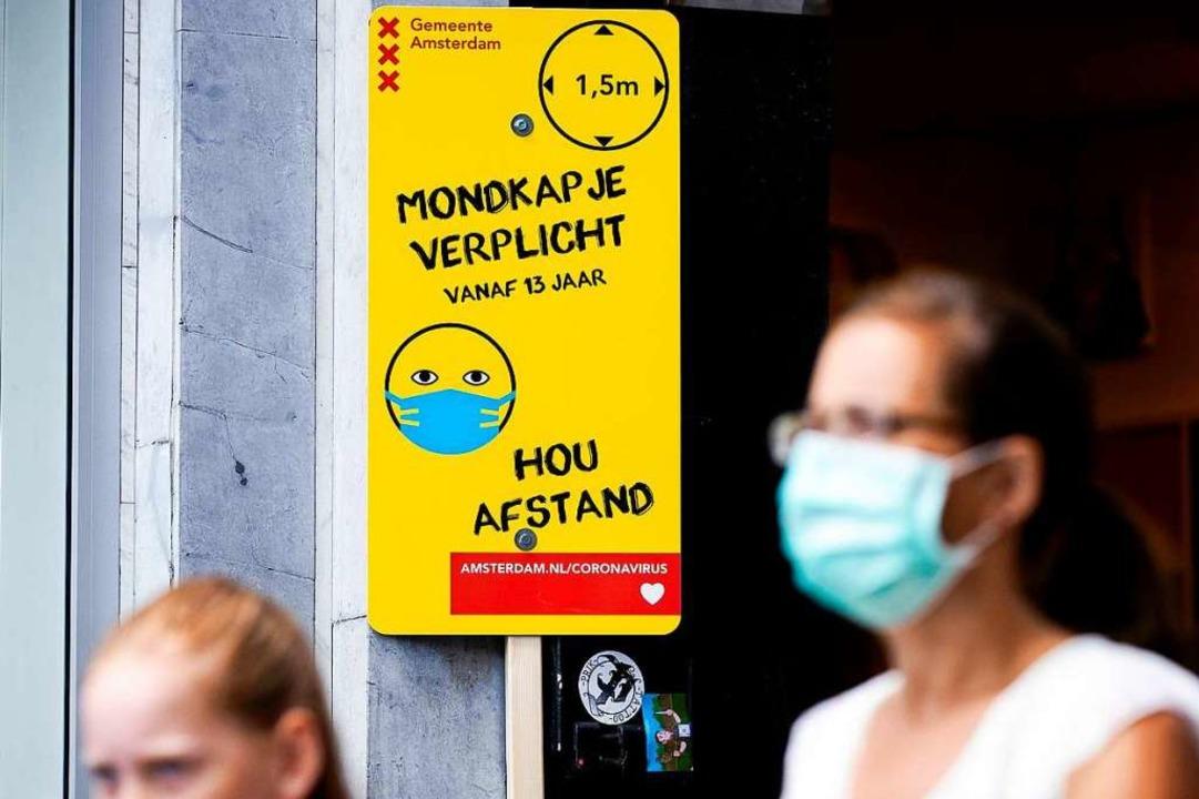Die Niederlande haben die Maßnahmen zu... dies bereits seit dem 5. August 2020.    Foto: sem Van Der Wal (dpa)