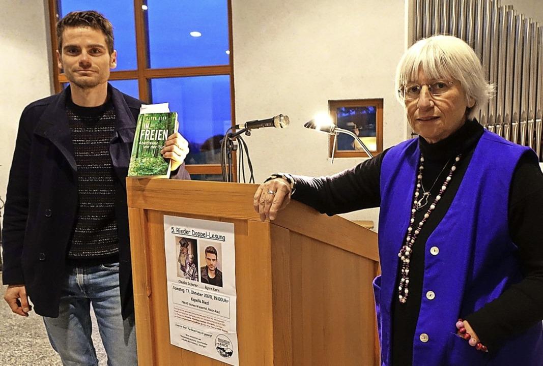 Spannende literarische Begegnung: Clau...tuellen Texten in der Kapelle in Ried.  | Foto: Roswitha Frey