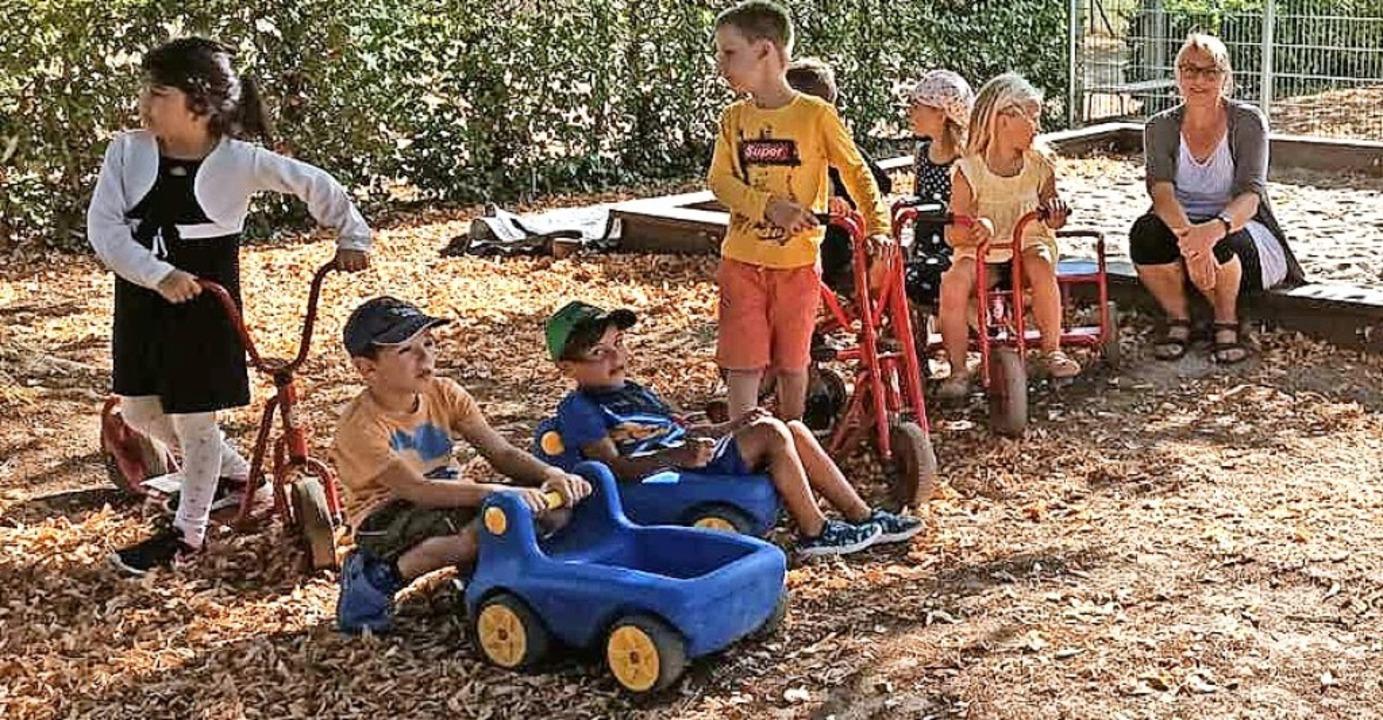 <BZ-FotoAnlauf>Förderverein:</BZ-FotoA...r des Kindergartens wird rege genutzt.  | Foto: privat