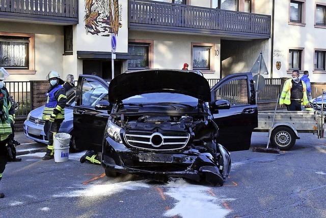 Unfall an der Dinglinger Hauptstraße