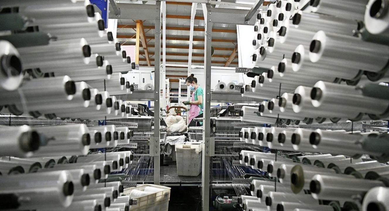 Die chinesische Industrie – hier...t schon seit Monaten auf Normalniveau.  | Foto: Wang Jianwei (dpa)