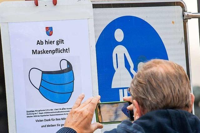 Maskenpflicht gilt in der gesamten Fußgängerzone in Lörrach