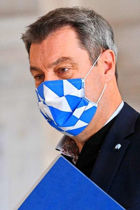 Der bayerische Ministerpräsident Markus Söder  | Foto: Peter Kneffel (dpa)