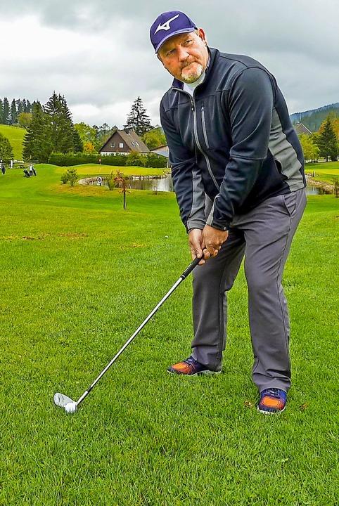 Stefan Königer  trat als einziger  Golflehrer aus dem Schwarzwald bei der DM an.  | Foto: Heidrun Simoneit