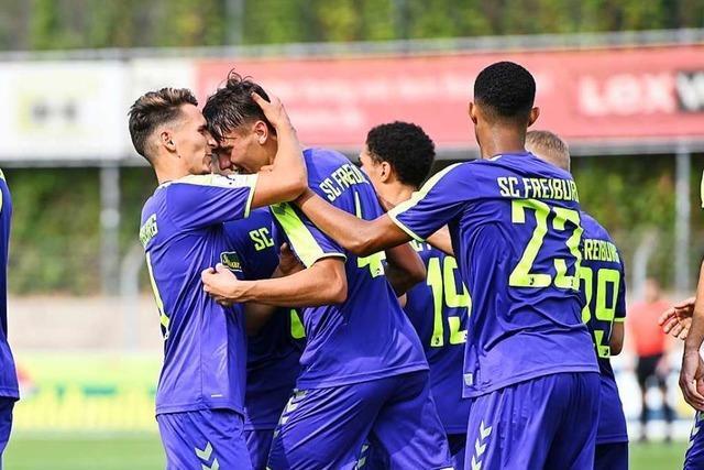 Marvin Pieringer trifft vier Mal: U 23 des SC Freiburg gewinnt 4:2 beim Regionalliga-Spitzenreiter TSV Steinbach Haiger