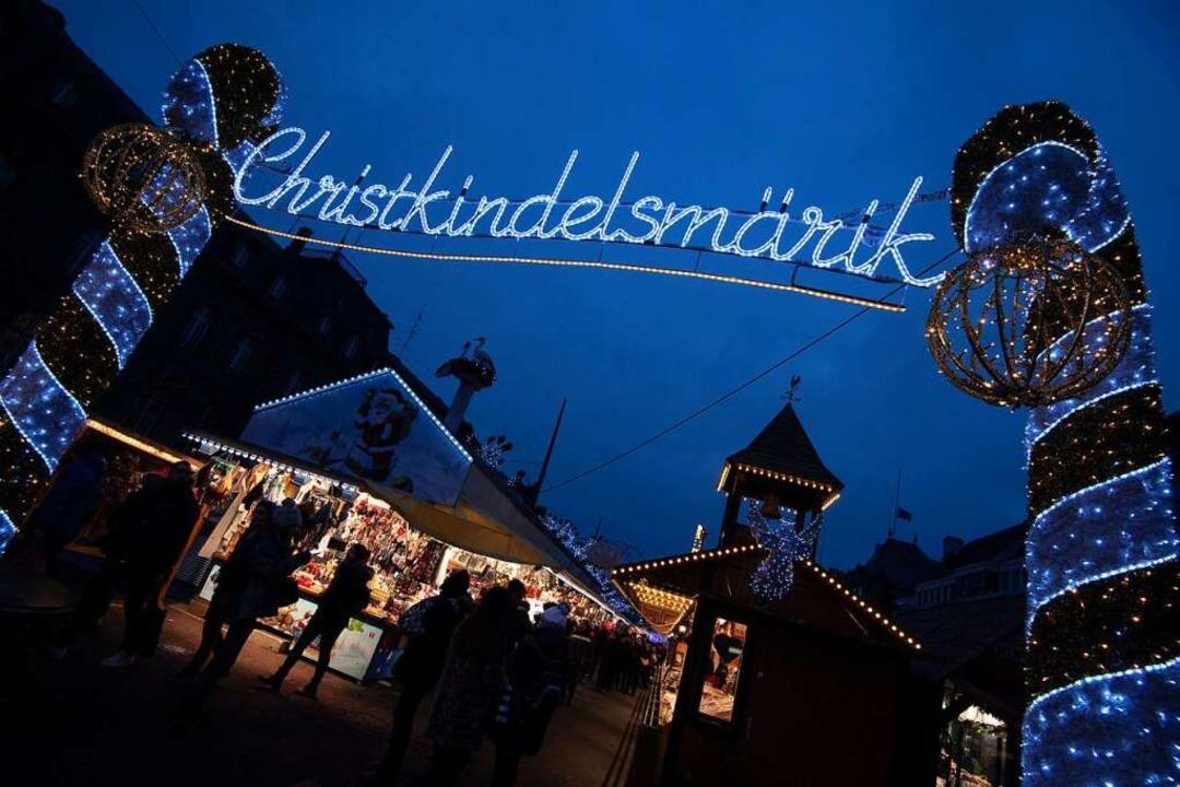 Kein Christkindelsmärik: Der Straßburger Weihnachtsmarkt ist weitgehend abgesagt  | Foto: Marijan Murat (dpa)