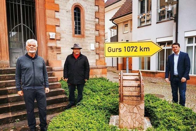 Ein Straßenschild in Kippenheim soll an die Deportation erinnern