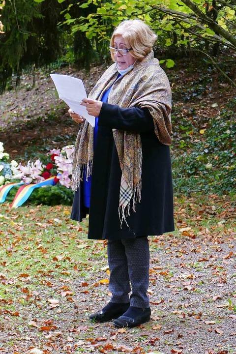 Olga Maryanovska, Vorsitzende der jüdi... mehr Wachsamkeit von der Bevölkerung.  | Foto: Michael Sträter