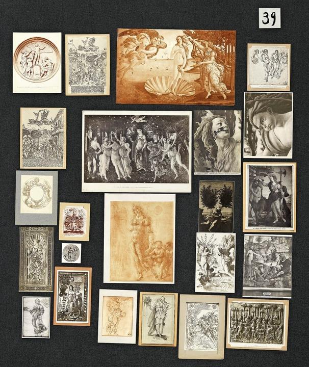 Collage von Motiven: Das Blatt Nr. 39 ...m rekonstruierten Bildatlas Mnemosyne     Foto: Taschen