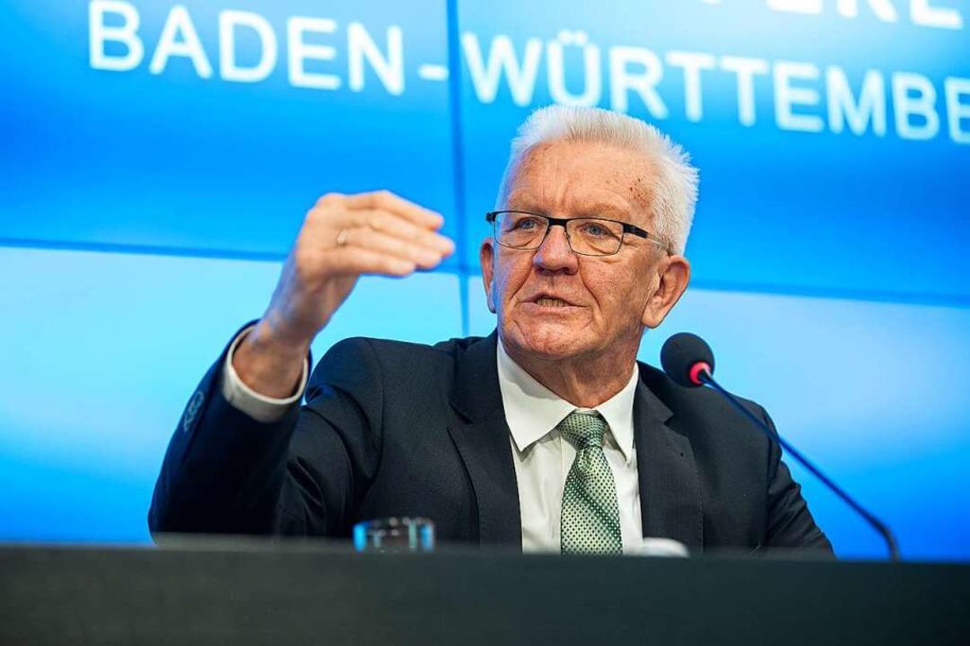 Ministerpräsident Winfried Kretschmann  | Foto: Sebastian Gollnow (dpa)
