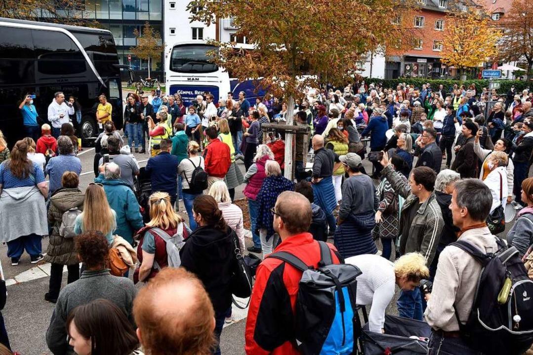 Die Polizei zählte 350 Teilnehmer    Foto: Thomas Kunz
