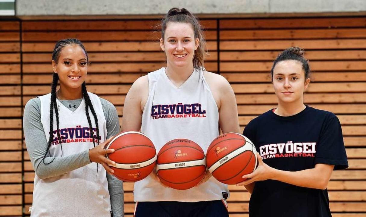 Die drei neuen ausländischen Profis be...o, Cassidy Boensch und  Paloma Vasquez  | Foto: Achim Keller