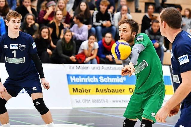Libero Jonathan Schönhagen freut sich doppelt über das Trainerlob des Bruders