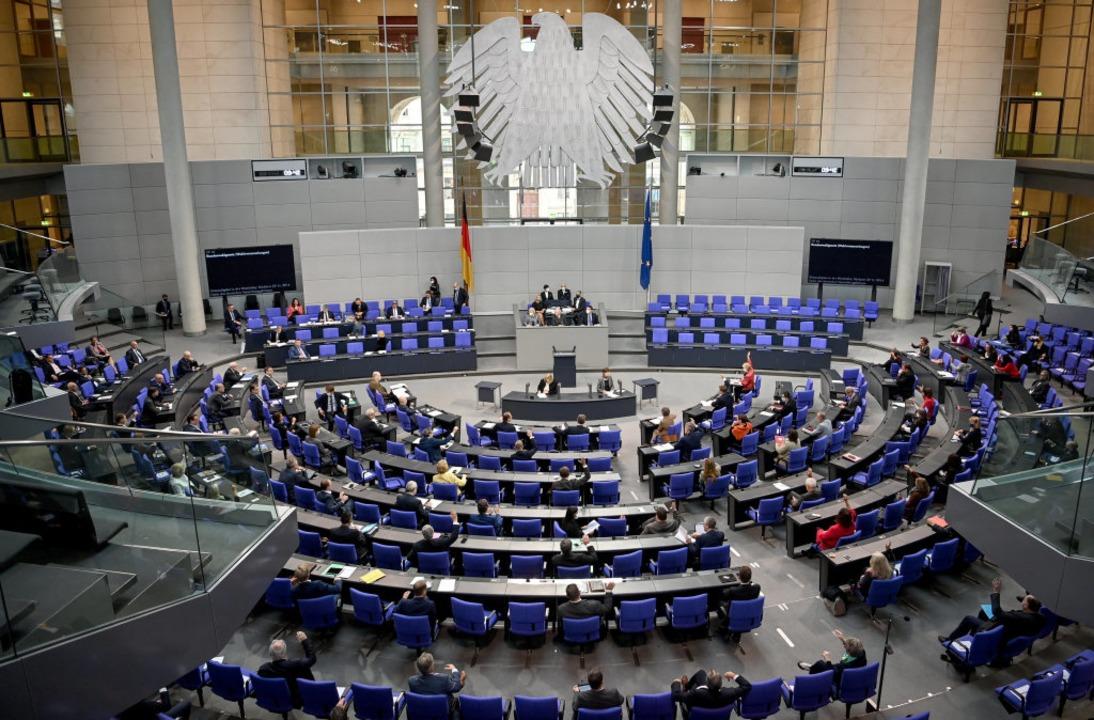 Der Plenarsaal des Bundestags  | Foto: Britta Pedersen (dpa)