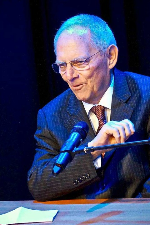 Wolfgang Schäuble  | Foto: Christine Storck-Haupt