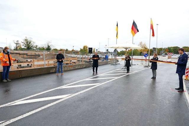 Die A5-Anschlussstelle Müllheim-Neuenburg ist nun offiziell eröffnet