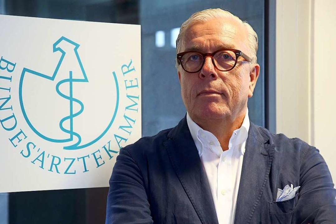 Klaus Reinhardt, Präsident der Bundesärztekammer  | Foto: Wolfgang Kumm (dpa)