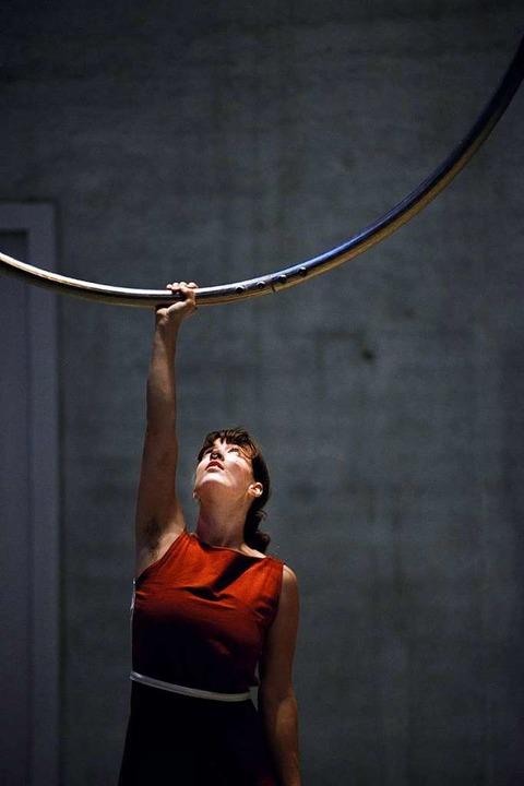 Sandra Hanschitz mit Cyrwheel  | Foto: Fidel Gomez-Sanchez