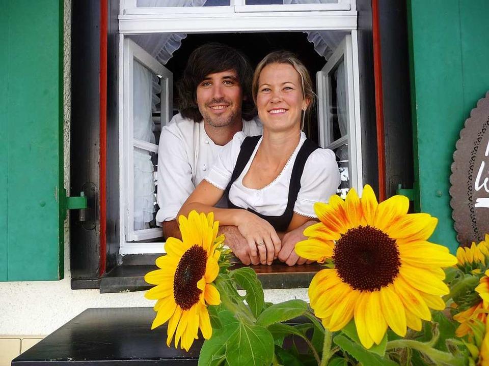 Johannes Dilger und seine Frau Emilie Dilger  | Foto: Katja Rußhardt