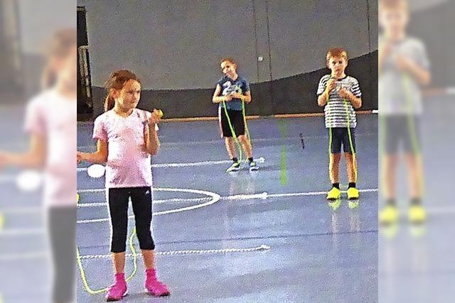 Seilspringen an der Grundschule