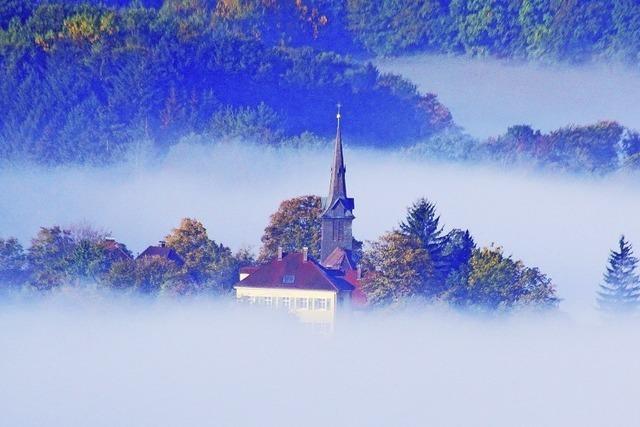 Ein Nebelmeer am Morgen