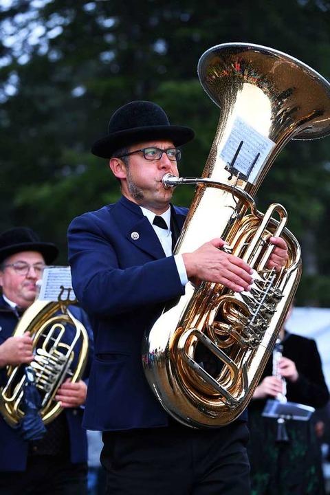 Voller Klang beim Rossfest in St. Märgen.    Foto: Wolfgang Scheu