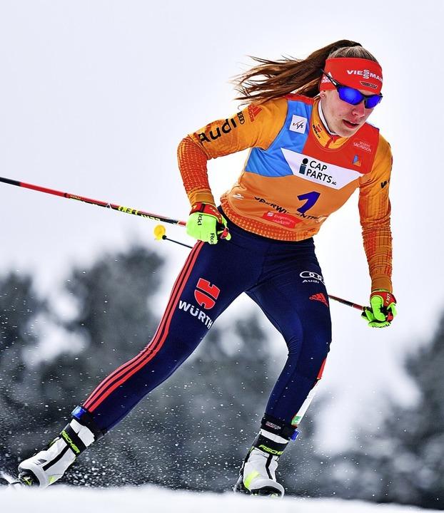 <ppp>dann starten sie wie hier Jenny Nowak im Skilanglaufrennen. </ppp>  | Foto: Hendrik Schmidt