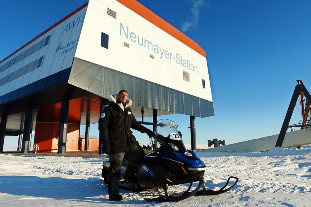 Klaus Guba leitet die Forschungsstation Neumayer III in der Antarktis.  | Foto: Alfred-Wegener-Institut / T. Steuer