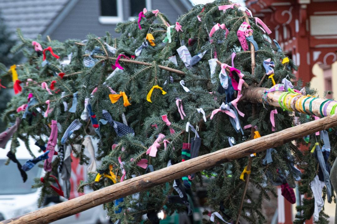 Der Narrenbaum ist ein Symbol der Fasn...ch in der etwas anderen Saison  2021?   | Foto: Wolfgang Scheu