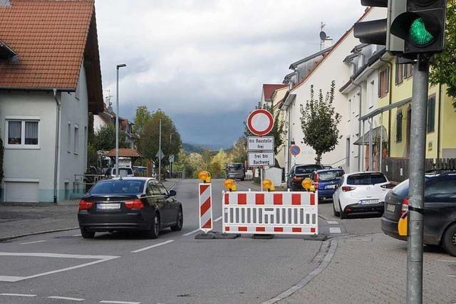 Umleitung sorgt für mehr Verkehr in Wittlingen und Schallbach