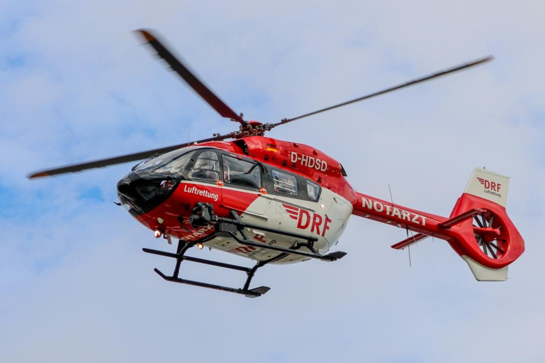 Ein Rettungshubschrauber war im Einsatz (Symbolbild).    Foto: Bert Spangemacher (dpa)