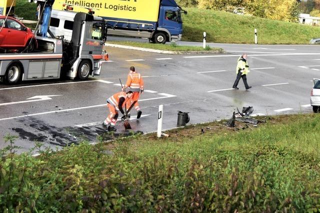 Die B317 bei Schopfheim ist nach einem Unfall wieder offen